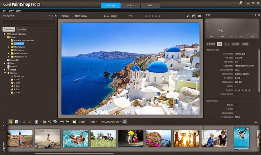 Download Corel PaintShop Pro X6.16.2.0.20 SP2 Full Keygen