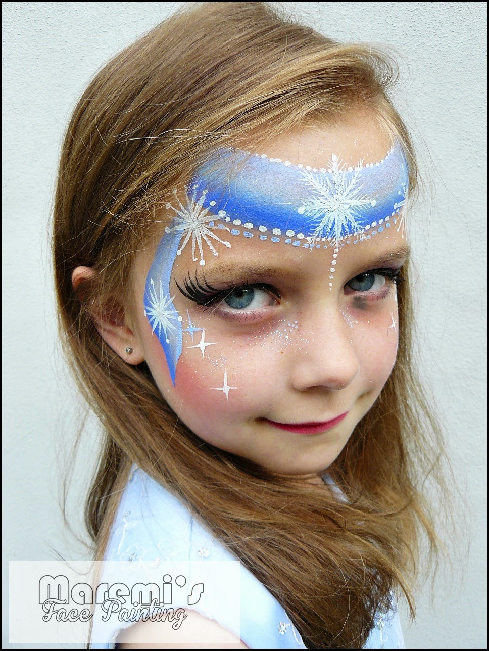 Maremi Face Body Painting Frozen Kraina Lodu
