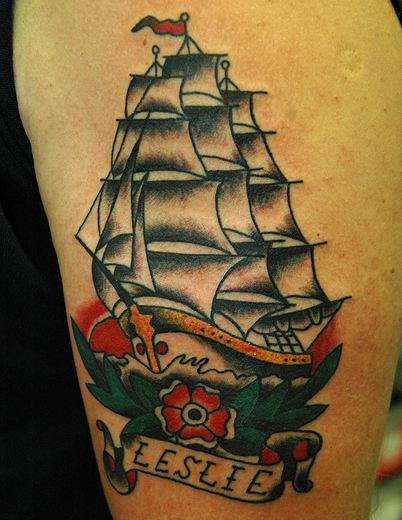 Speedboys traditional american tattoo keelhauled mike for American anchor tattoo