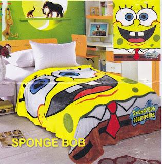 Selimut Sutra Panel Belladona Sponge Bob