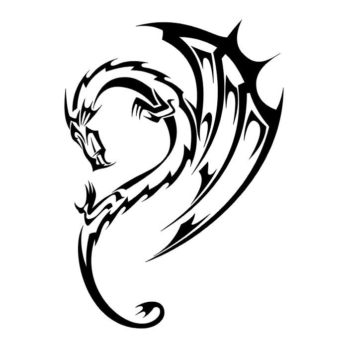 Free Dragon Tattoo Stencils