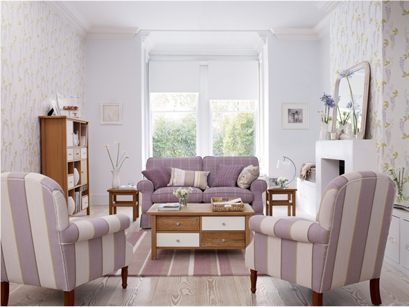 Lee Caroline A World Of Inspiration Interior Design Inspiration - Laura ashley living room purple