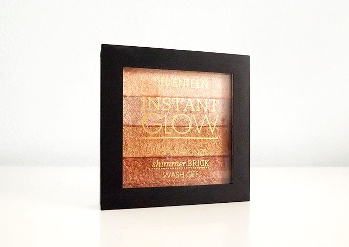 A photo of the Seventeen Instant Glow Shimmer Brick in Gold Bronze