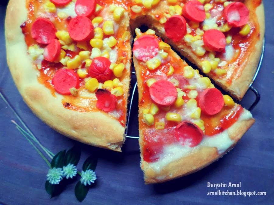 Resep pizza mini yang empuk kami sajikan disini. Amal S Kitchen Simple Easy Recipes Pizza Empuk Tanpa Diuleni