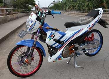 Modifikasi Suzuki Satria FU 150 Kontes