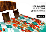 Amazon : Buy Christy's Collection Pack of 2 AC Blankets at Rs.199 only