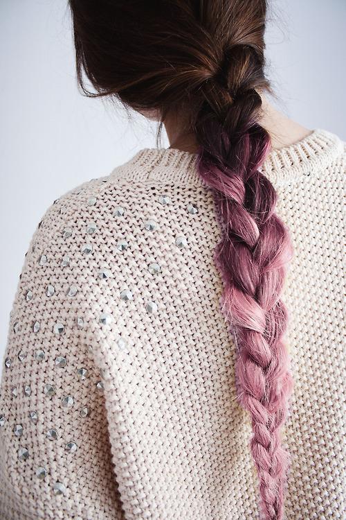 trenzas en cabello rosa 2013
