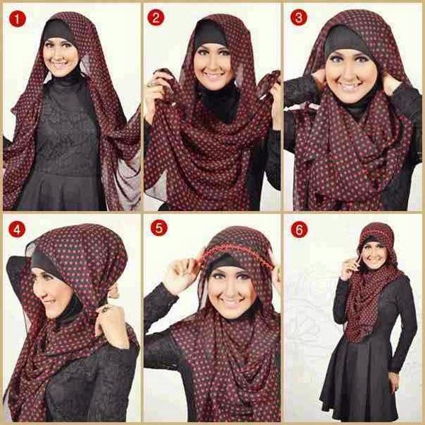 7 Cara Memakai hijab jilbab Wajah Bulat