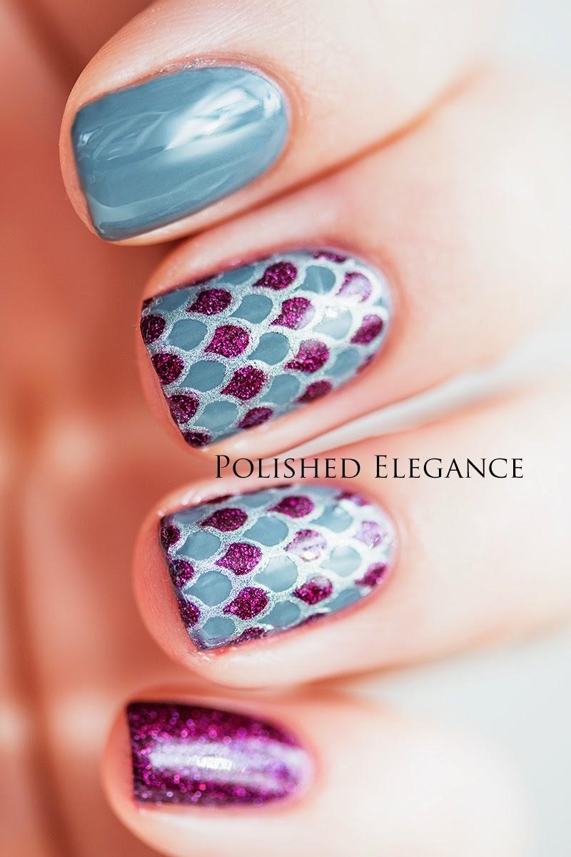 Nail art stamping decal full nail tutorial