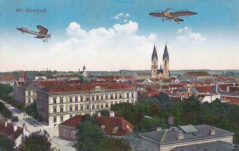 transpress nz flying machines over Wiener Neustadt, 1915