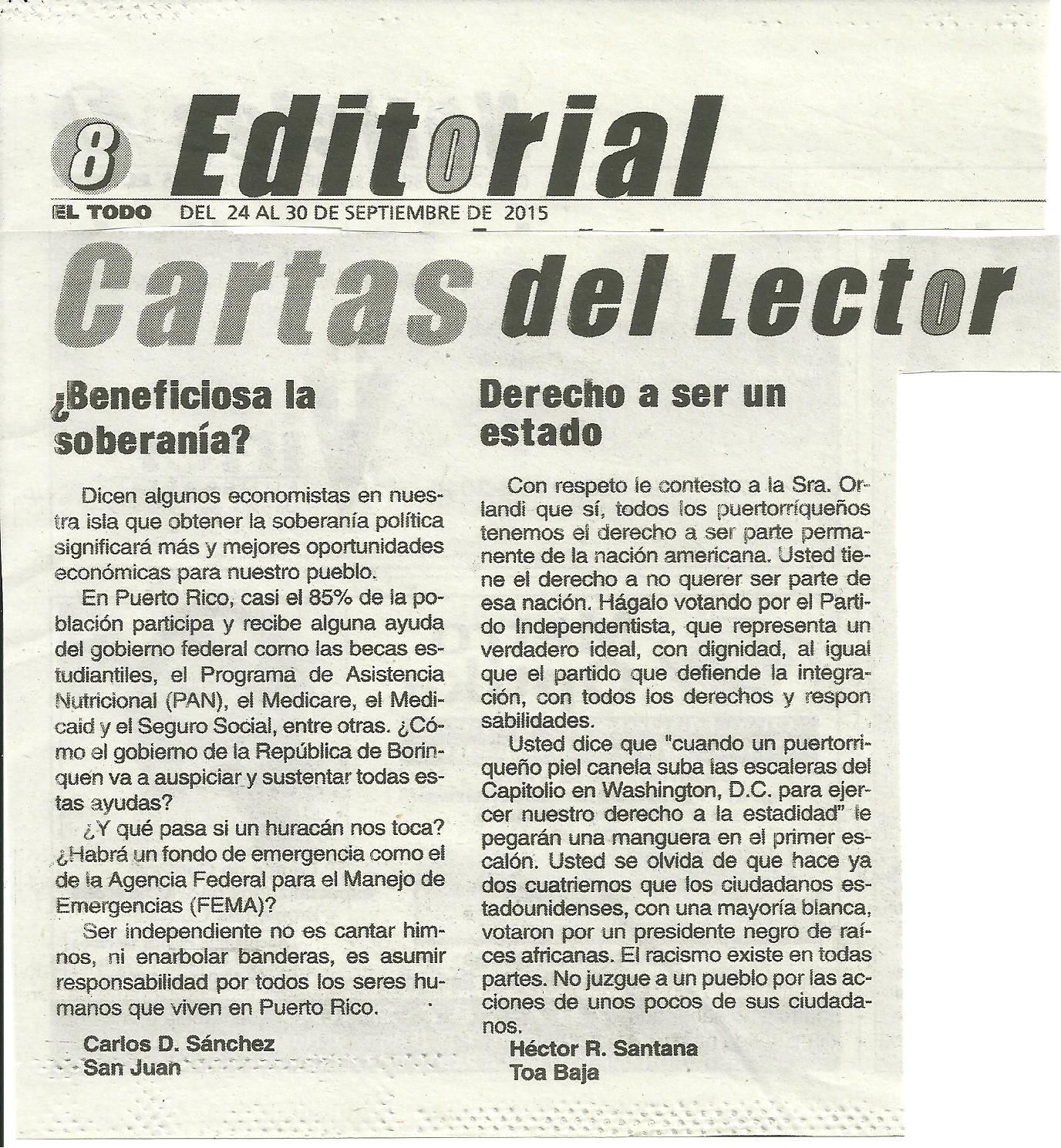 Compa eros unidos para la descolonizaci n de puerto rico for Ejemplo de una editorial de un periodico mural
