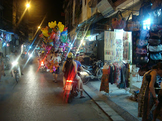 Night street market in Vietnam