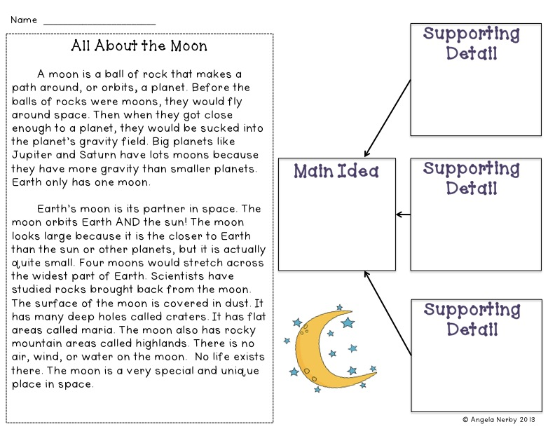 Monday Made It July 29th Hippo Hooray for Second Grade – Main Idea Worksheets 2nd Grade
