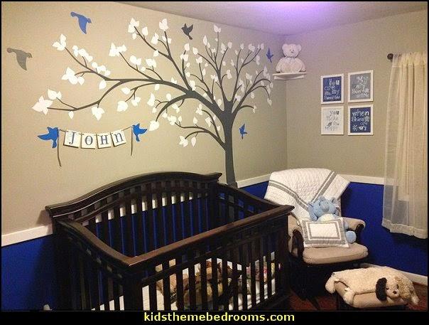 Wall Decor Ideas For Boy Nursery : Decorating theme bedrooms maries manor baby nursery