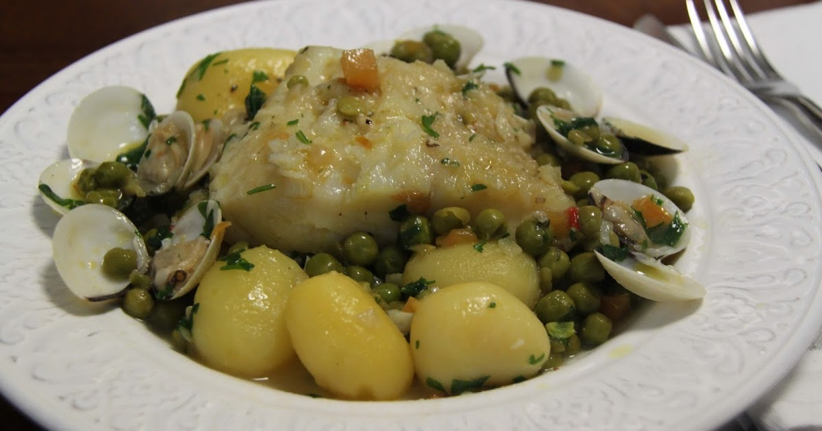 Bacalao guisado con patatas y guisantes rico y r pido - Bacalao guisado con patatas ...