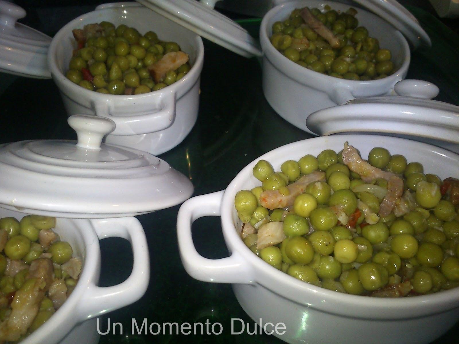 Un momento dulce guisantes con jam n for Cocinar xoubas