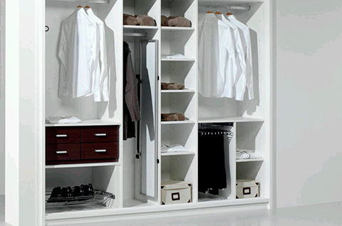Hogar 10 como distribuir el interior del armario - Como forrar un armario por dentro ...