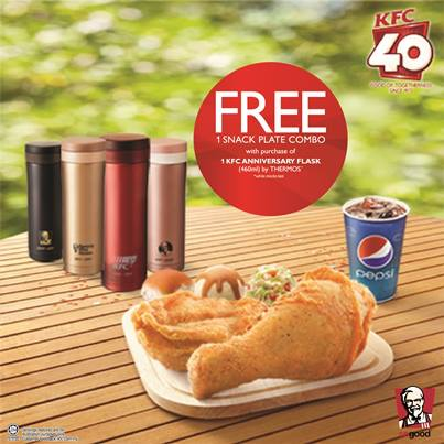 KFC 40th Anniversary Promo - FREE Snack Plate Combo With Purchase & BestLah: KFC 40th Anniversary Promo - FREE Snack Plate Combo With ...