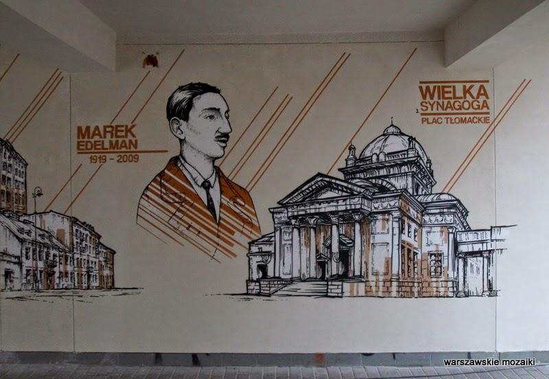 Marek Edelman na Muranowie Warszawa murale warszawskie karmelicka solidarności ściana graffiti