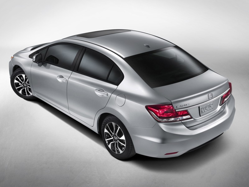Honda Sneak Peeks Civic Redesign for 2013