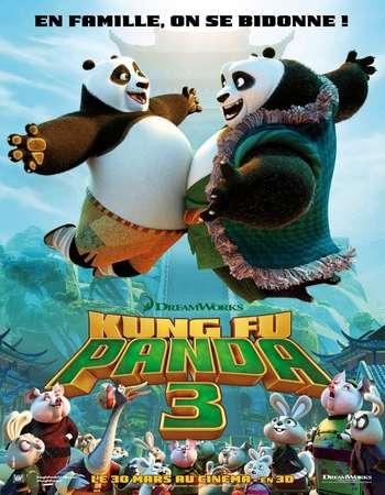 Poster Of Kung Fu Panda 3 2016 Dual Audio 300MB   Free Download Watch Online