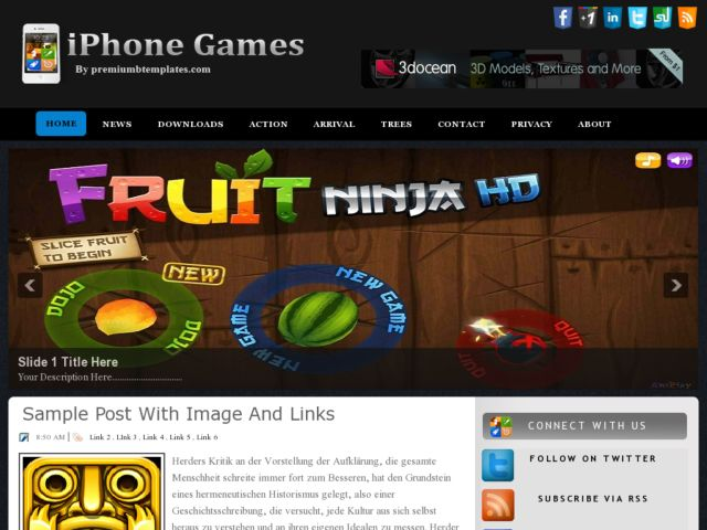iPhone Games Blogger Template