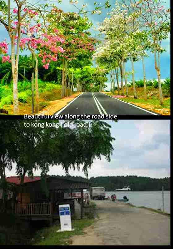 scenary on the way to Johor Kong kong