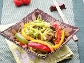 Bò xào rau củ - làm nhanh ăn ngon