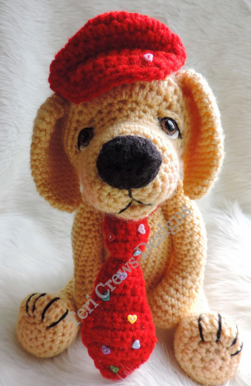 Advanced Amigurumi Shapes : Teris Blog: New Crochet Pattern Cute Yellow Dog