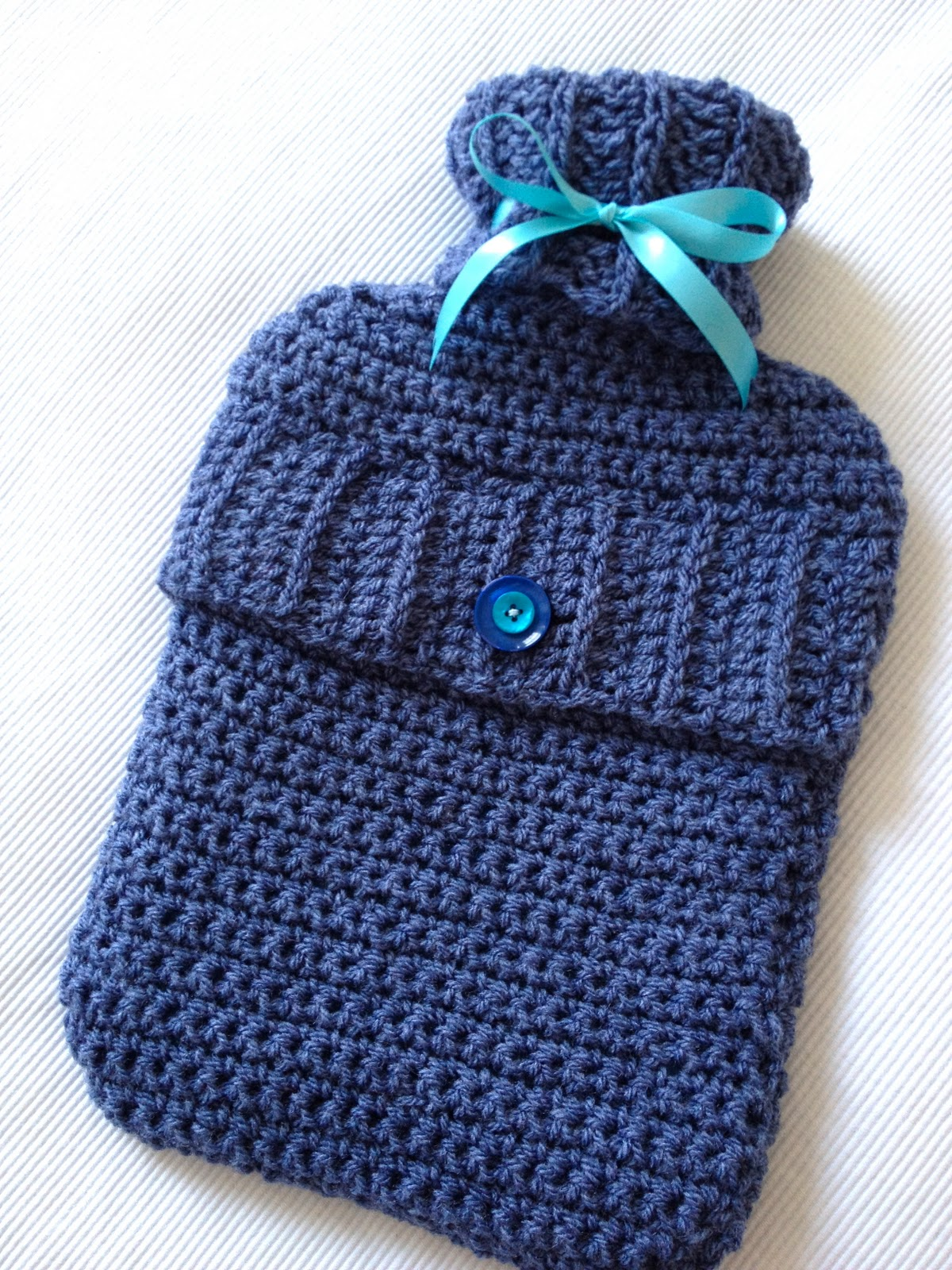 Hooked Again: Project # 1: Crochet Hot Water Bottle Cover