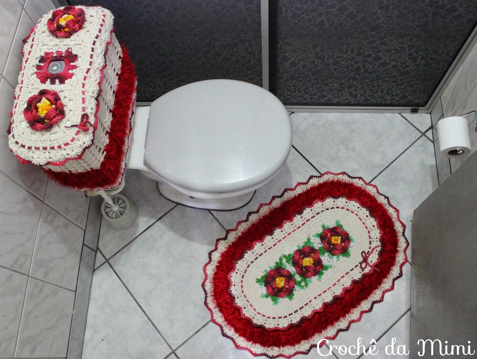 Jogo de banheiro oval com bico duplo ~ Crochê da Mimi -> Jogo De Banheiro Oval Simples Com Grafico