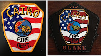 Customer Provided Patch and Completed Helmet Shield
