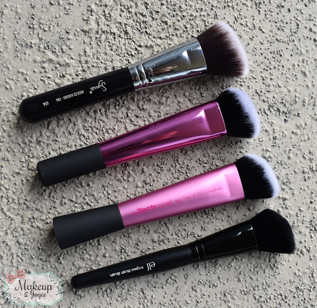 Real Techniques Sculpting Brush vs ELF Angled Blush Brush