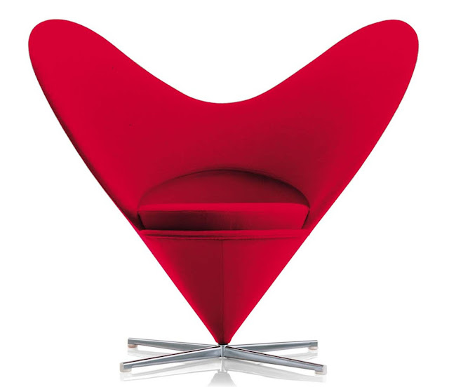 Panton heart chair modern design by for Chaise panton