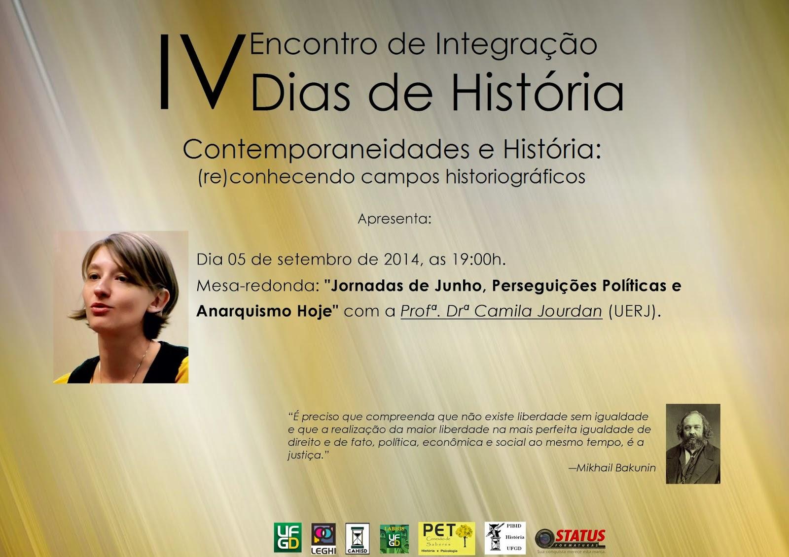 Camila Jourdan participará do 4º EIDH em Dourados-MS.