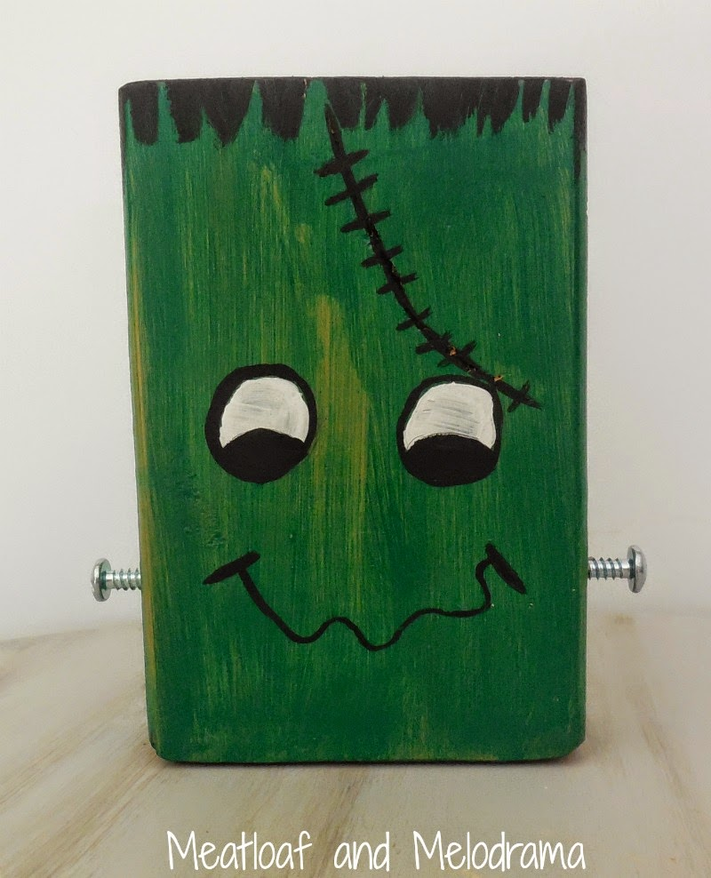frankenstein made from scrap wood with bolts