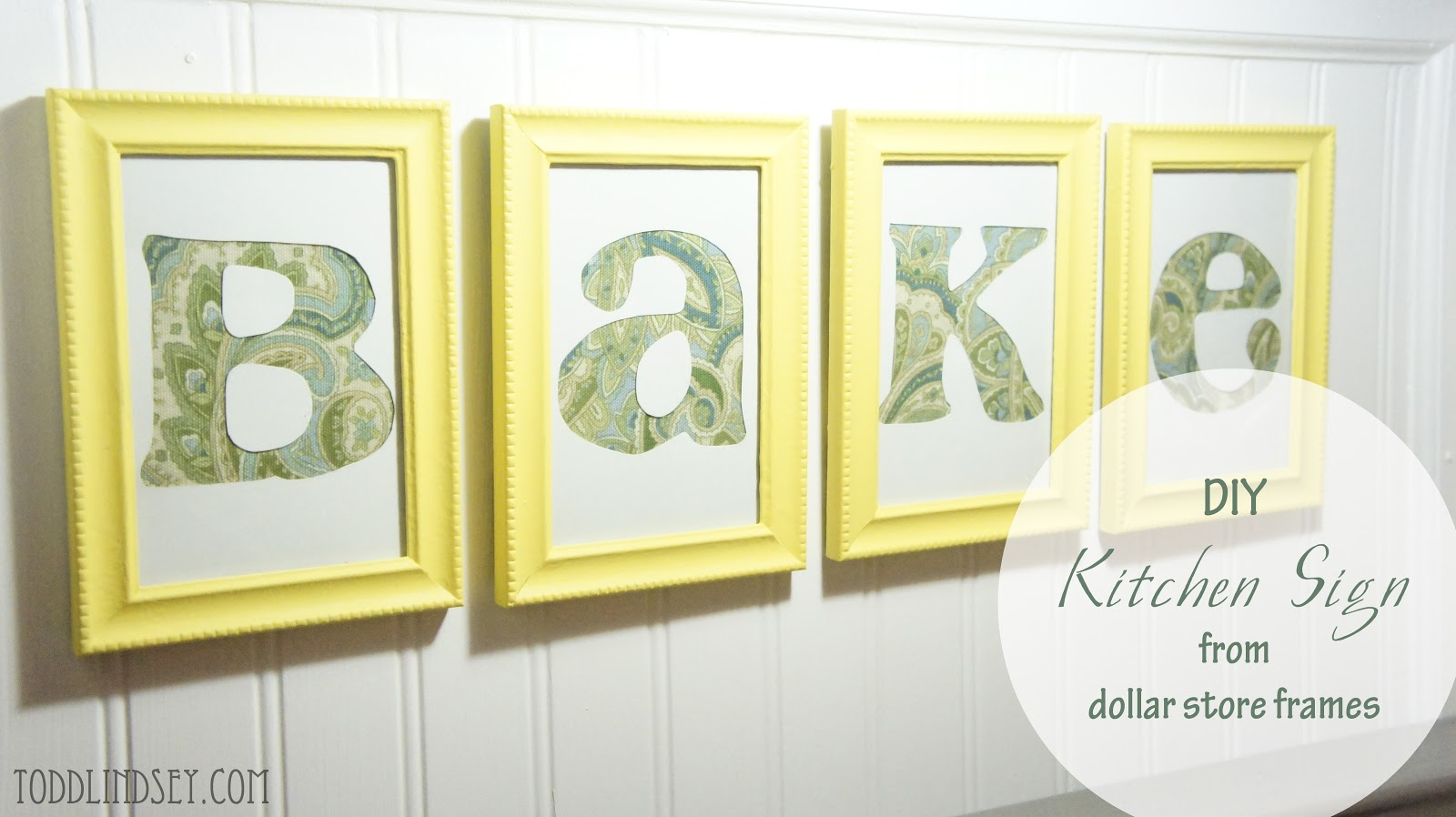 Domer Home: DIY Kitchen Sign from Dollar Store Frames