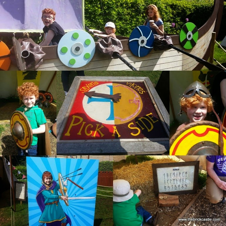 Warwick Castle review  saxons vs vikings horrible histories