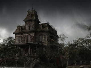 Dark Old House Dark Gothic Wallpaper
