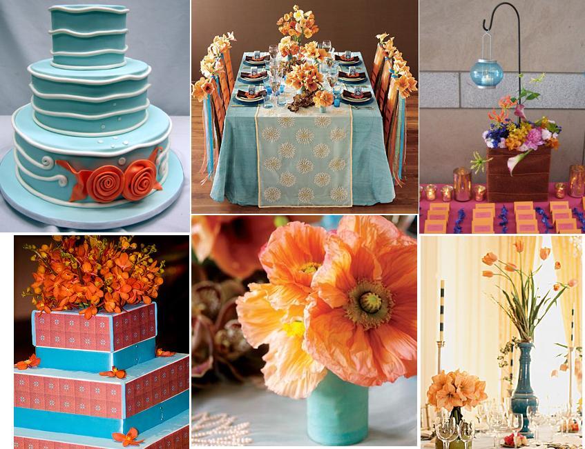 Turquoise dan Orange Lagi satu kombinasi yang jarang orang buat
