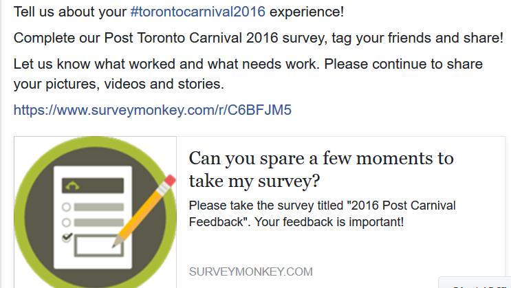 Share your Carnival 2016 feedback
