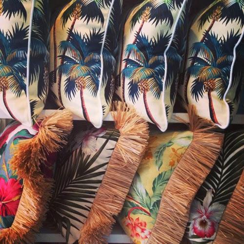 Cojines estampado hawaiiano