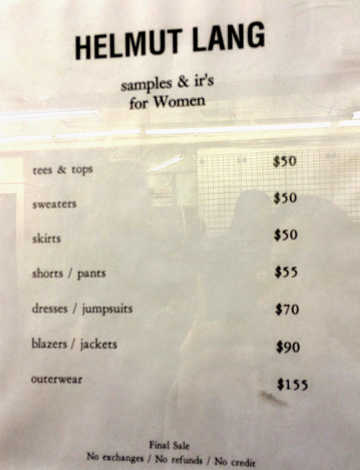 fashionably petite: Theory & Helmut Lang Sample Sale for Men & Women