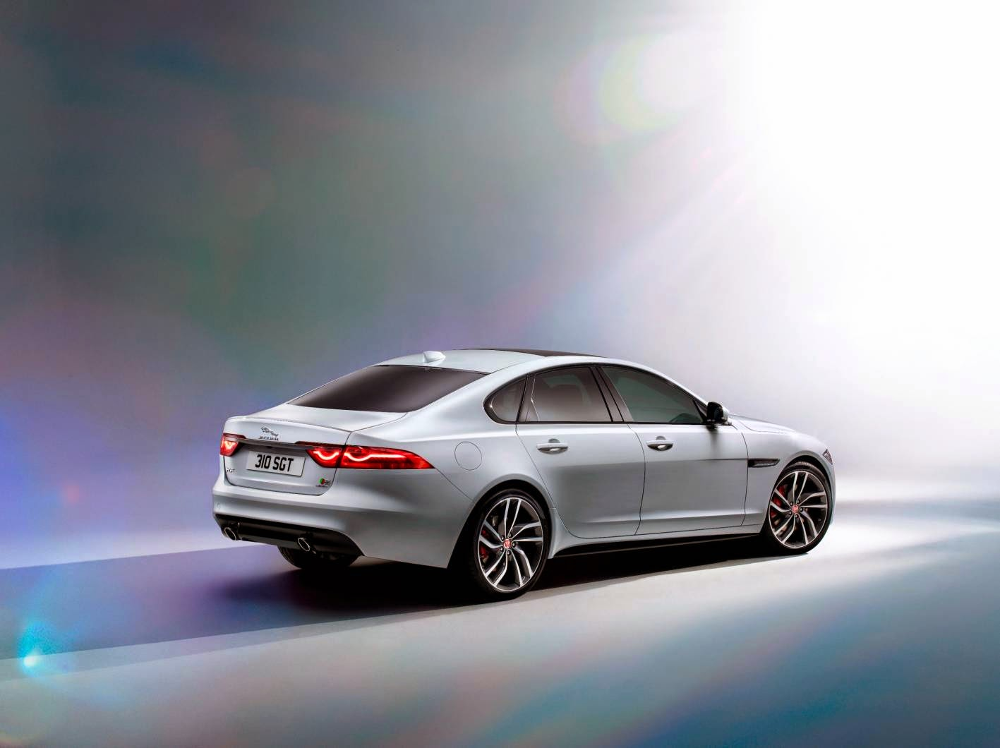 New Jaguar XF rear angle
