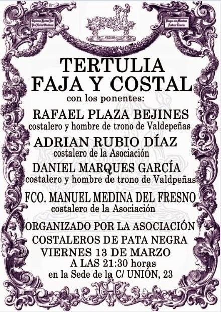 Tertulia Faja y Costal 2015