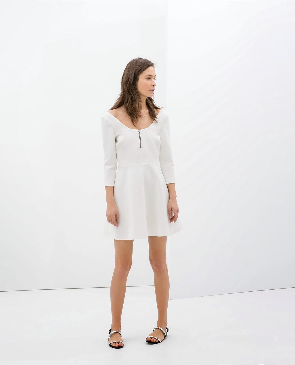 beyaz elbise, kayık yaka elbise, kısa elbise