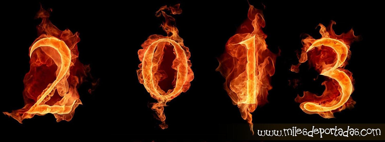 Portadas para Facebook - Feliz Año Nuevo 2013 fuego ardiente
