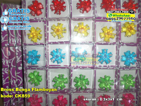 Bross Bunga Flamboyan murah