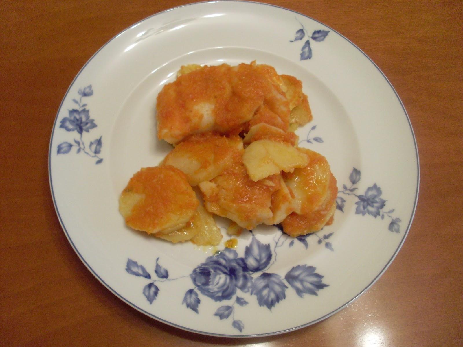 La cocina de pilar manzano bacalao confitado con salsa de - Bacalao fresco con tomate ...