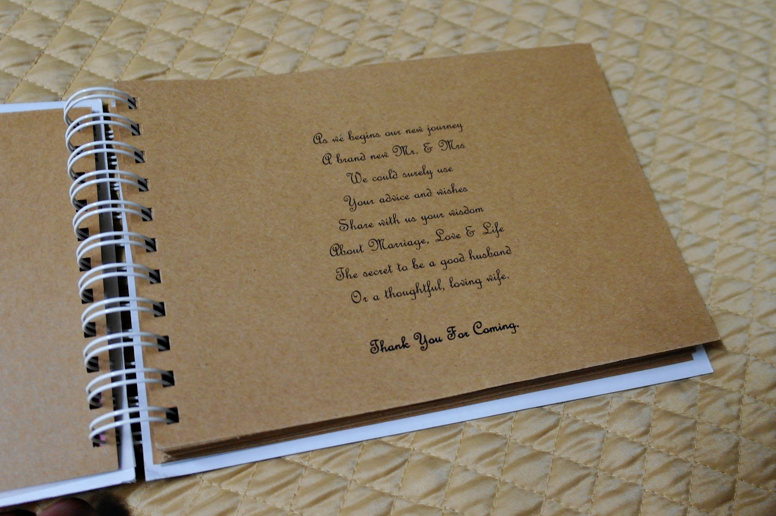 Diy Cover Guest Book : Cujen the lejen diy wedding guestbook